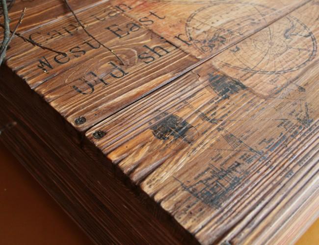 Методы состаривания деревянной столешницы